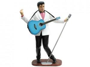 Elvis Presley Singer White Suit - Microphone - Guitar